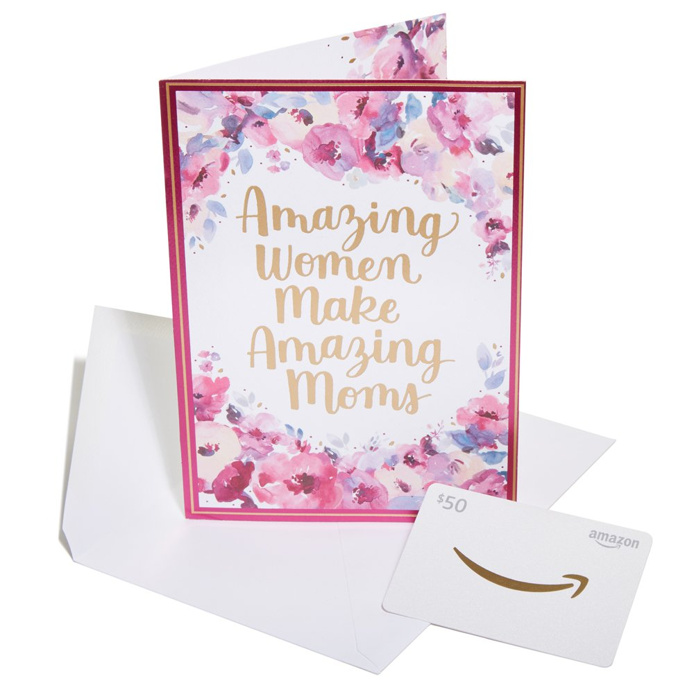 Amazon.ca $50 Gift Card in a Premium Greeting Card by Carlton Cards - Amazing Moms Amazon.com.ca Inc. Fixed