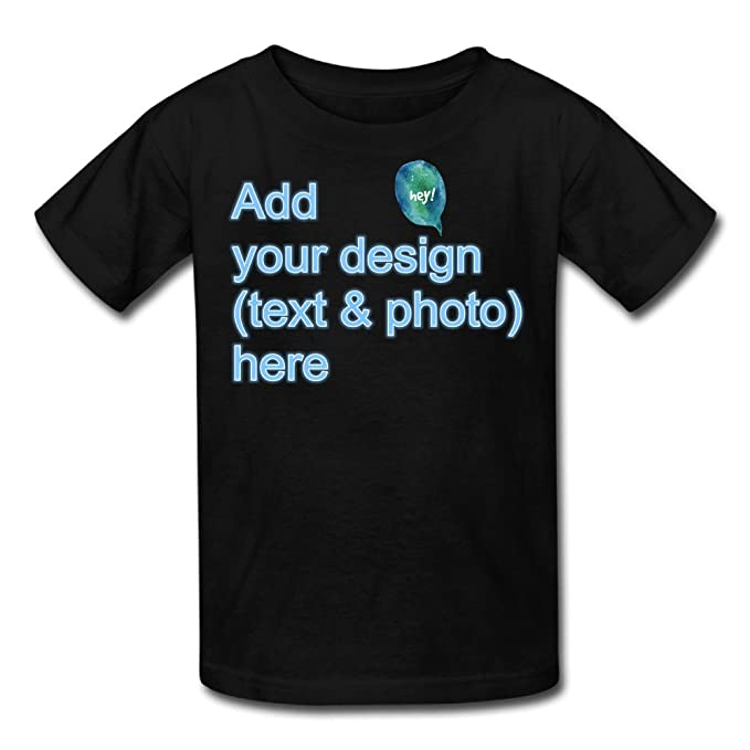 b9ba354c3713 Custom Kids  Blank T-Shirt Create Your Own Personalized Cute Custom  tee(Black