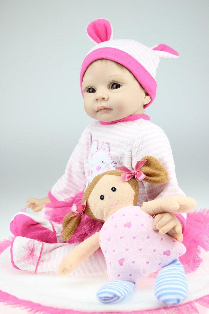 """Sin impuestos Terabithia 22"""" Adorable Alive silicio Vinilo renacido Baby Baby Baby Girl Boy Dolls para niños  disfruta ahorrando 30-50% de descuento"""