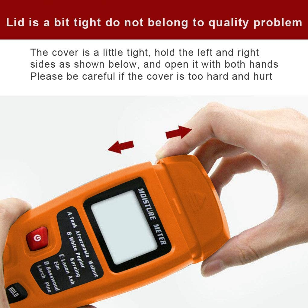 Bodbii Wood Moisture Meter Two Pins Digital 0-99.9/% Digital Humidity Tester,LED Timber Wood Humidity Tester LED Timber Damp Detector