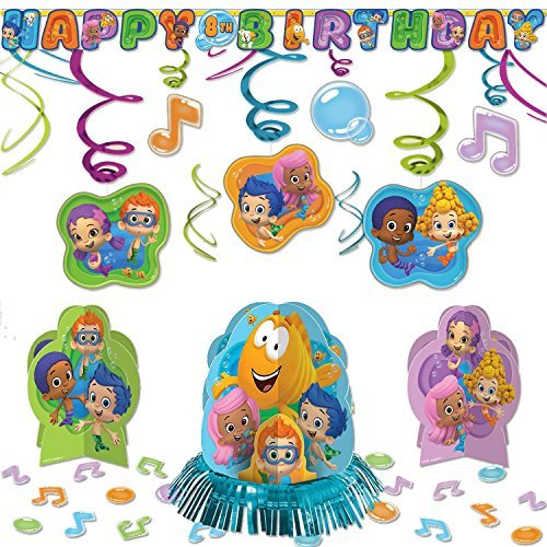 Bubble Guppies Childrens Birthday Party Pack Decoration Kit ()