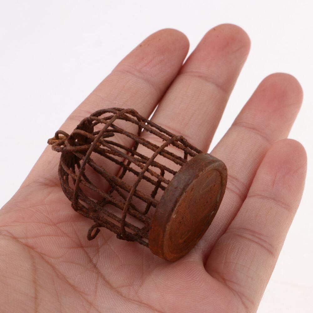 XQxiqi689sy Garden Outdoors Metal Miniature Hollow Hook Birdcage Dollhouse Fairy DIY Pendant Decor