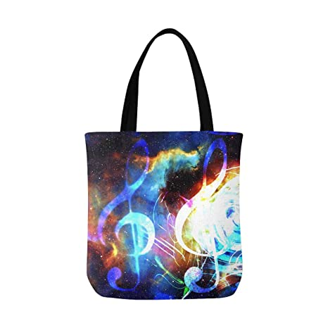 Bass Clef  Funny Tote Bag For Life Shopper Shopping Reusable Musical