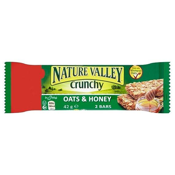Nature Valley - Barrita de cereales con avena y miel - 42 g - Pack de