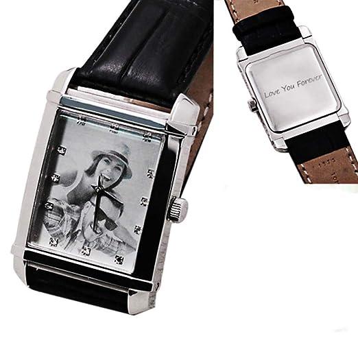da3394c0ae1f Reloj de cuarzo cuadrado personalizado para mujer hombre