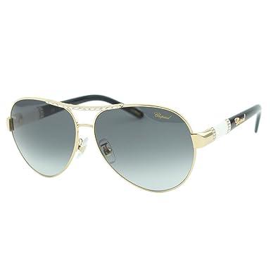 de7810335 Chopard SCH A59S 300F Women Gold & Black Jeweled Embellished Aviator ...