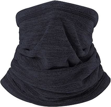 New Multi Use Morf Micro Fleece Winter Snood Scarf Neck Warmer Black Navy White