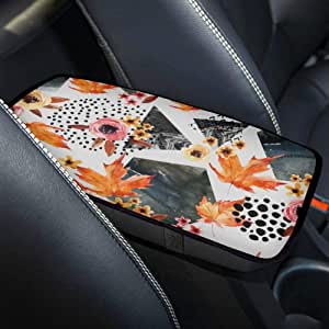 Reposabrazos Cojín Auto Asian Maple Leaf Rojo Otoño Arce