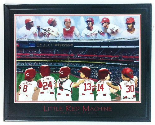 MLB Baseball Cincinnati Reds Morgan Perez Rose Griffy Bench Conception Framed Wall Art F6630A