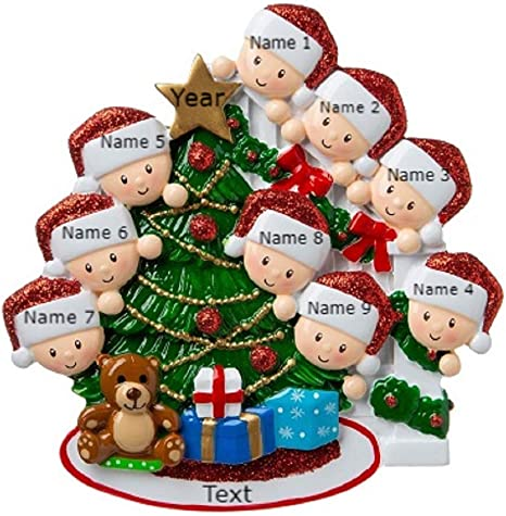 Personalized Decorating Family Tree Family of 3 4 5 6 7 Christmas Ornament Gift