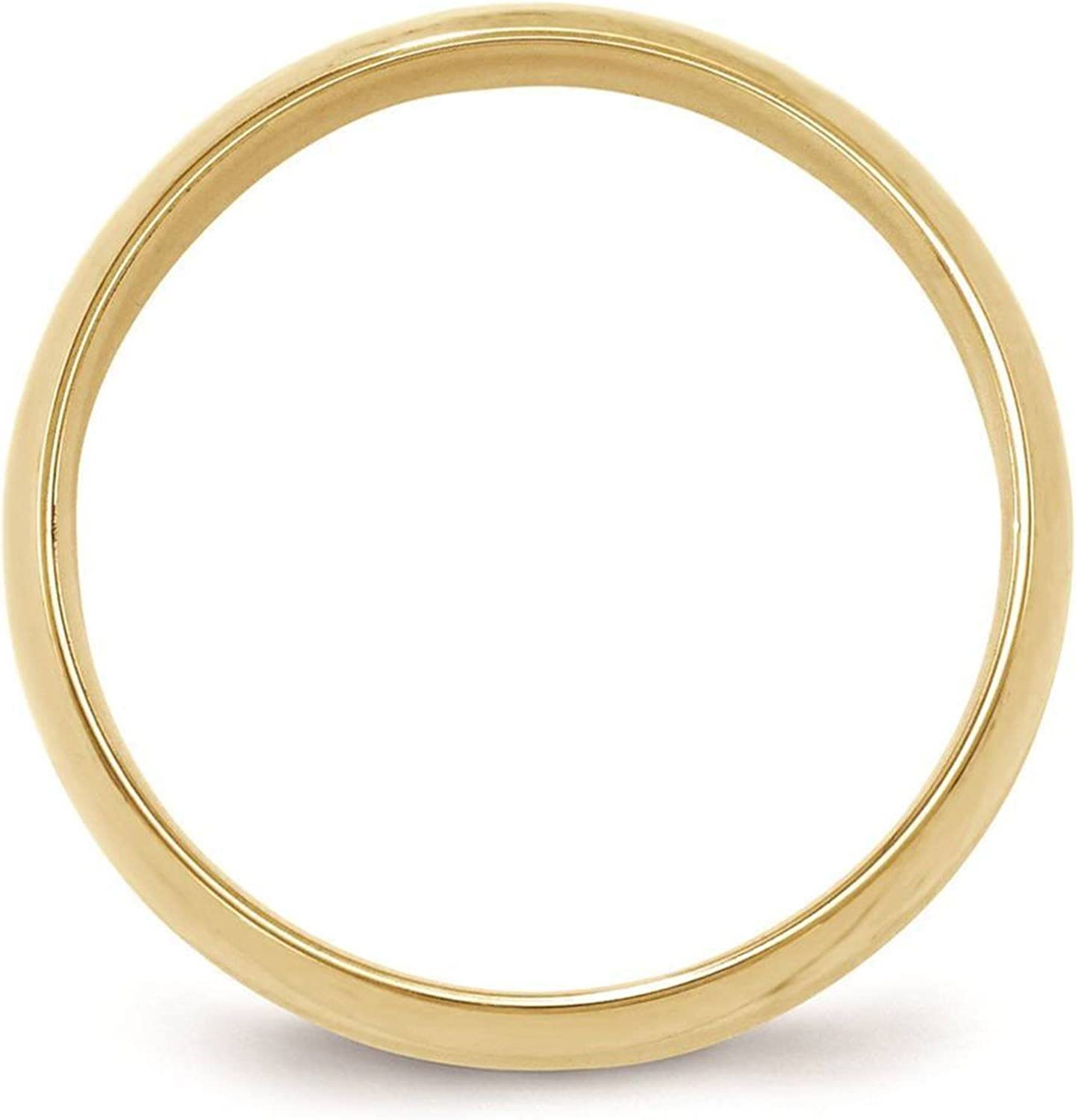 14k Yellow Gold 5mm Light Comfort Fit Wedding Ring Band Size 4-14 Full /& Half Sizes