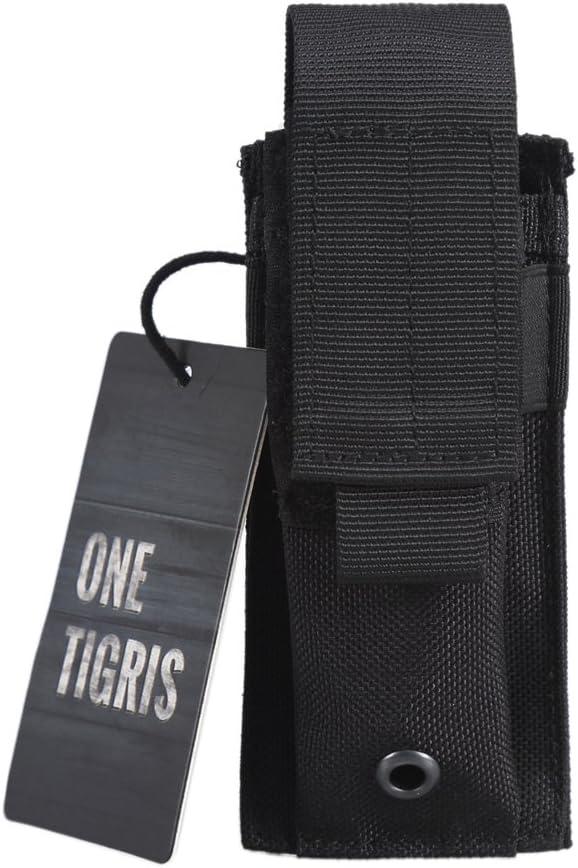 OneTigris - Funda para cinturón de nailon ajustable, color negro: Amazon.es: Deportes y aire libre