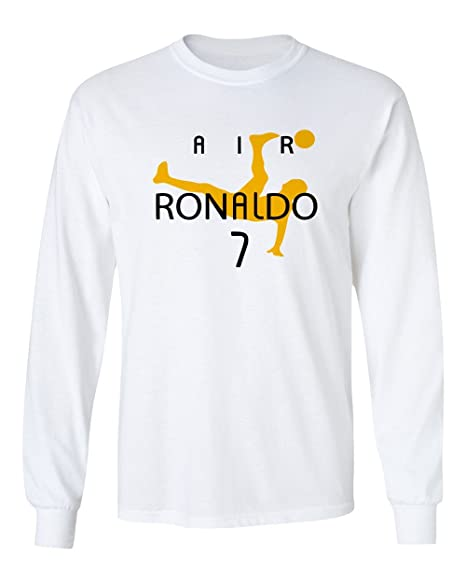 the best attitude abc72 0248e QASIMOF Air Ronaldo Soccer CR7 New Cristiano Men's Long Sleeve T-Shirt
