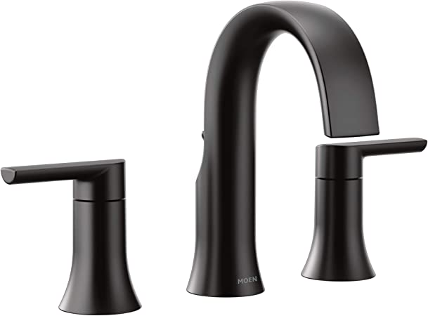 Moen Ts6925bl Doux Two Handle 8 Inch Widespread Lever Handle
