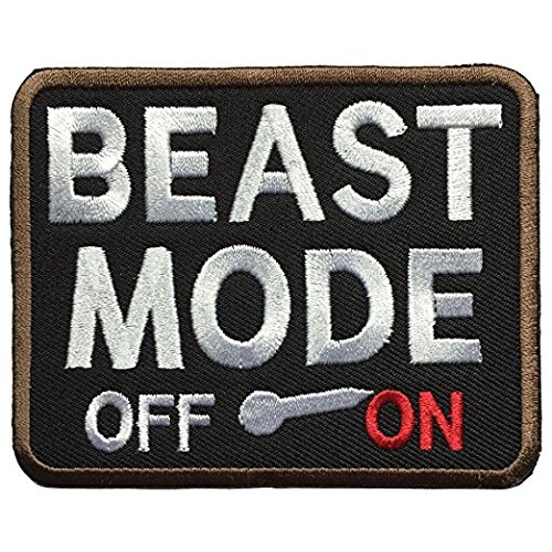 Moda Vest - Antrix Beast Mode On Military Morale Patch Tactical Emblem Hook and Loop Patches-3.5x2.75
