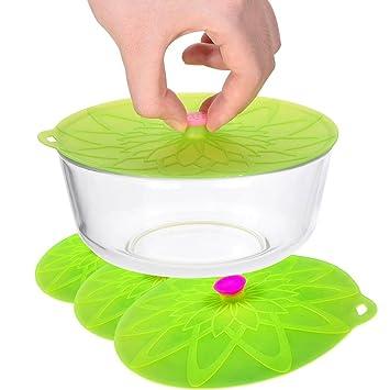 Kuke - Tapas de silicona con ventosa para microondas, macetas ...