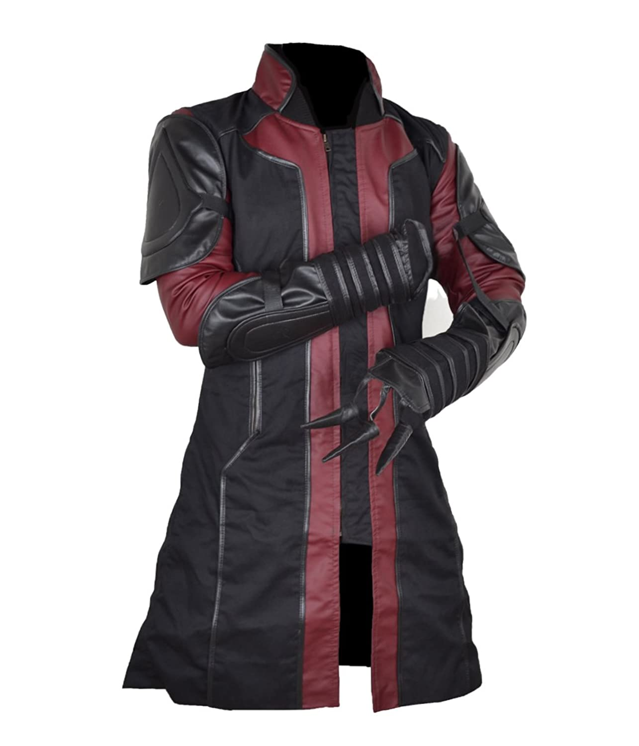 The Avengers: Age of Ultron Hawkeye Faux Leather Coat - DeluxeAdultCostumes.com