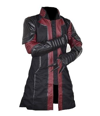 Classyak Hombres Ultron de Los Vengadores Hawkeye Funda de Piel sintética de Moda del Abrigo: Amazon.es: Ropa y accesorios