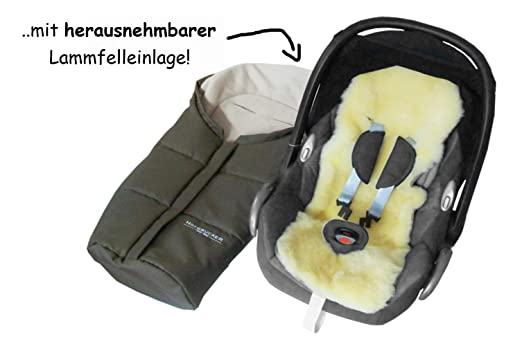 Hofbrucker Lammfell Fußsäckchen Leni Für Babyschale Kinderwagenschale Lammfell Herausnehmbar Winterfusssack Wasserabweisend Mumienform Lammfellfußsack Made In Germany Design Navy Blue Baby
