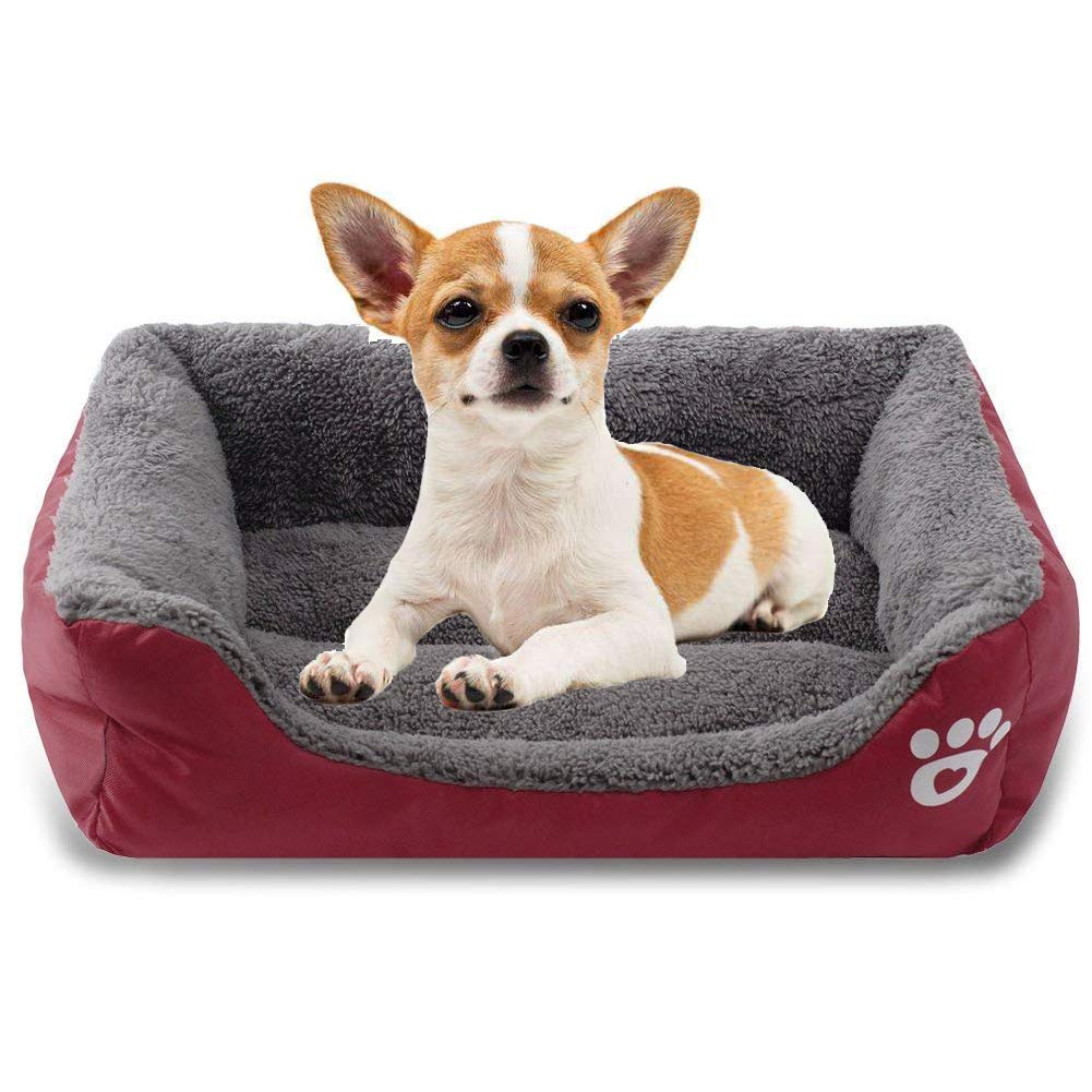Red Large Red Large The Dog's Bed, Plush Dog Beds, Non Slip, Soft Comfortable,Red,L