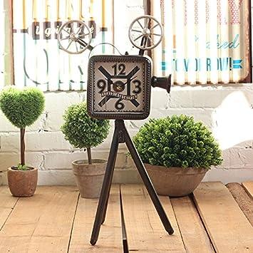 Mcl.Ful Home Decoration Cámara de aire industrial creativo restaurante salón del reloj de escritorio de inicio existente ornamentos retro, relojes blandos ...