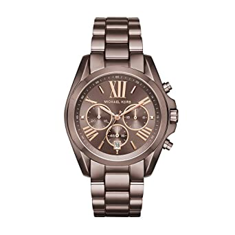da0b86d7efe5 Michael Kors Womens Bradshaw Quartz Chronograph Stainless Steel Bracelet  Watch