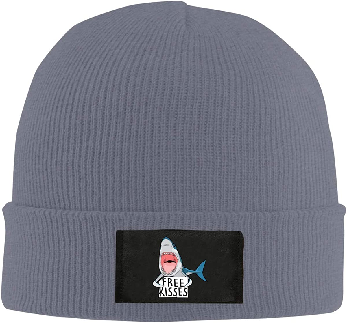 Free Kiss Shark Unisex Beanie Hat Fashion Warm Hats Skull Cap