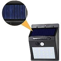 20 LED Solar Lights Motion Sensor Wall Light Outdoor Garden Yard Lamp Waterproof Outdoor Waterproof Light - Black