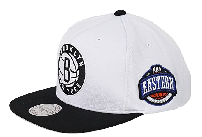 Mitchell   Ness Brooklyn Nets - Gorra eu916 - White Black  Amazon.es ... 5df19d2f5b5