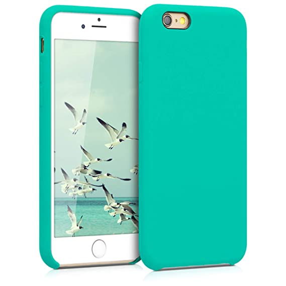 best loved adfed 8978d kwmobile TPU Silicone Case for Apple iPhone 6 / 6S - Soft Flexible Rubber  Protective Cover - Turquoise