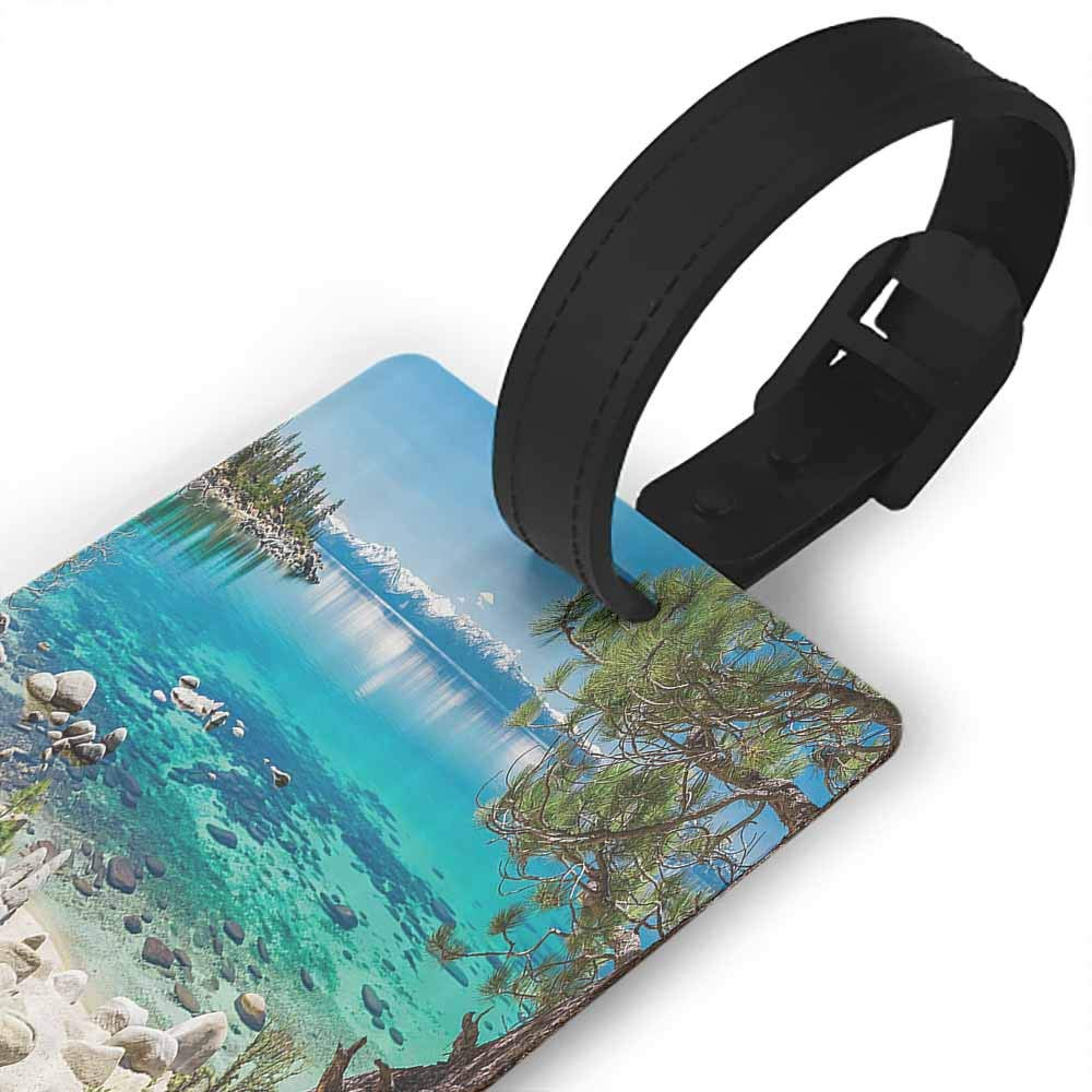 New Creative Luggage Tags Outdoor Room Decorations,Bavarian Alps With Village Of Berchtesgaden and Watzmann Massif,National Park Germany Holder Portable Label