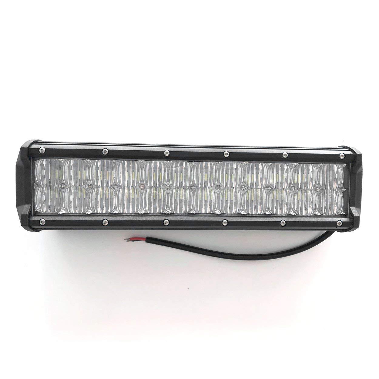 Lorenlli 120W 12 LED Light Bar Offroad pour PHILIPS 4D Led Lampe de conduite de faisceau de spot de barre de travail pour 12v 24v Camion SUV ATV 4x4