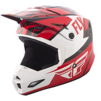 Fly Racing Elite Guild - Casco de carreras (talla L), color rojo