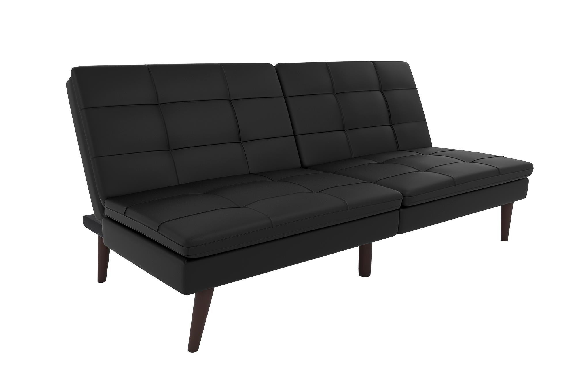 DHP Westbury Linen Pillowtop Futon, Black Faux Leather by DHP