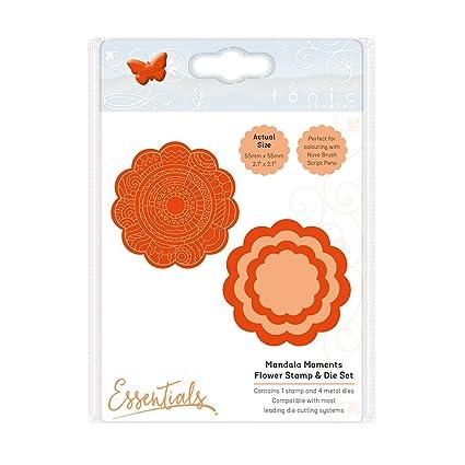 Tonic Studios Mandala Moments 1550e Flower Stamp /& Die Set