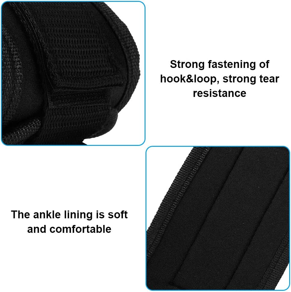 SH-RuiDu Durable Ankle Straps Leg Strength Training Weight-Bearing Power Strap Foot Ring for Fitness Black