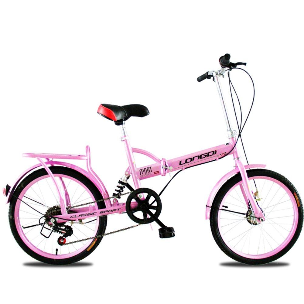 XQ 折りたたみ式自転車20/16インチ大人シングルスピード非常に軽いダンピング男性と女性の学生の子供用自転車 子ども用自転車 ( 色 : ピンク ぴんく , サイズ さいず : 16-inch ) B07CKPZHWN 16-inch|ピンク ぴんく ピンク ぴんく 16-inch