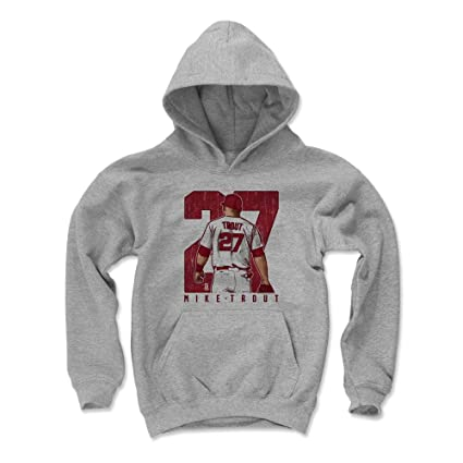 a6f90b178d7 Amazon.com   500 LEVEL Mike Trout Los Angeles Baseball Kids Hoodie ...