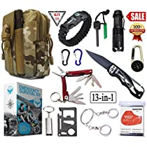 SIGMA - Emergency Survival Kit, Upgraded Tactical Professional Lifesaving Emergency Tools - Emergency Survival Gear kit For Climbing, Hiking andOutdoor