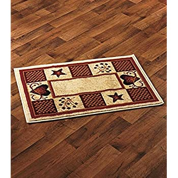 hearts and stars kitchen collection amazon com primitive country hearts and stars accent rug area rug sets garden outdoor 2276