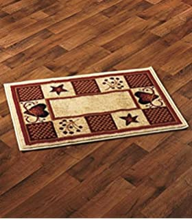 Decorative Country Accent Rugs Hearts Berries