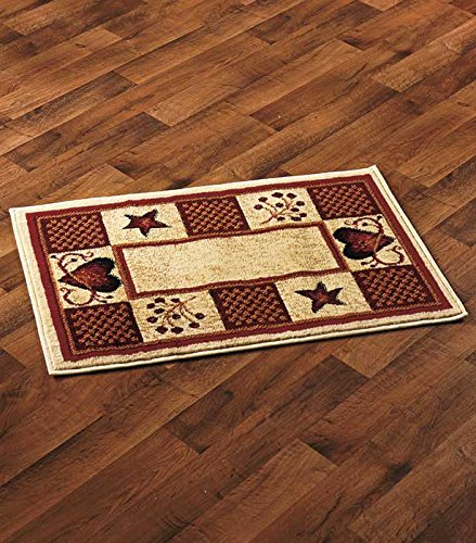 Decorative Country Accent Rugs (Hearts & Berries) by GetSet2Save