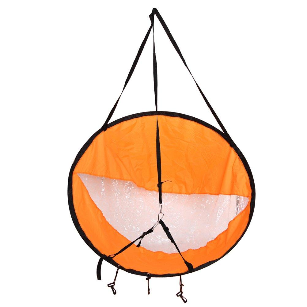 VORCOOL 42.5 Portable Wind Sail Downwind Wind Paddle for Kayak Boat Sailboat Canoe, Foldable Style Easy Setup Deploys Quickly (Orange)