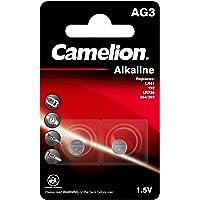Camelion 12050203 alkaline knoopcelbatterij zonder kwik AG3/LR41/LR736/392 met 1,5 Volt, set van 2, capaciteit 41 mAh