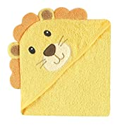 Luvable Friends Animal Face Hooded Towel, Lion