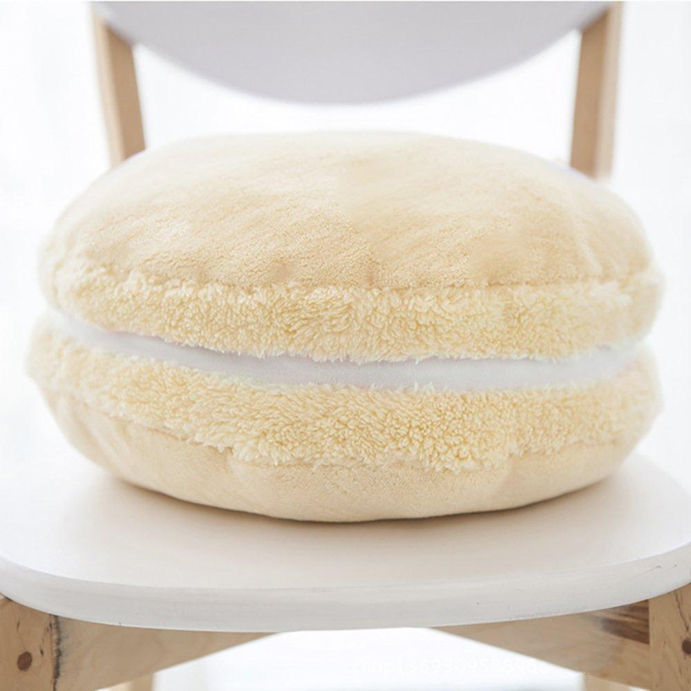 ChezMax Creative Macaron Shaped Cushion Plush Round Pillow Decorative Throw Pillow 14.5 Baby Blue