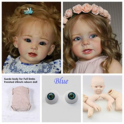 Zero Pam Blank Reborn Toddler Dolls Kits Supply Unpainted Silicone Vinyl Dolls Mould for Make 28 inch Reborn Baby Dolls Girl/Boy DIY Kids Play Toys: Toys & Games