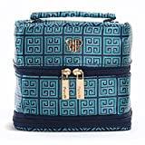 PurseN Tiara Vacationer Jewelry Case (Large, Jade Greek Key)