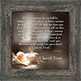 Elegantly Yours A Special Friend, Birthday Gift for Best Friend, Picture Frame for Your Forever Best Friend, 10x10 8612BW