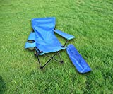 Kids Camp Chair Folding Portable Outdoor Cute Kid Beach Chair with Armrest Cup Holder for Ages up to 6 Years & eBook by jn.widetrade.